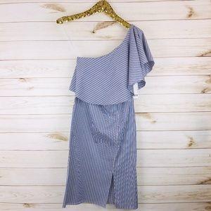 NWT Bar III One Shoulder Striped Dress